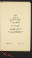 Dinner in honor of General Hugh A. Drum, retiring commanding general, New York National Guard, tendered by Colonel Harry Disston, commanding officer, Seventh Regiment, New York (107th Infantry, N.Y.N.G.) on the occasion of the first review of the Regiment
