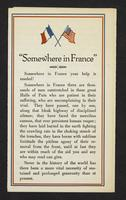 """Somewhere in France"", page [1]."