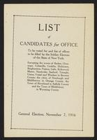 List of candidates for office to be voted for and list of offices to be filled by the soldier electors of the state of New York … : general election, page [1].
