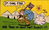 """I'm doing fine"" postcard with Benjamin Segan note to Judith Berman, May 31, 1943."