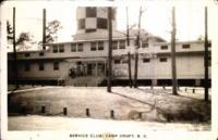 """Service Club, Camp Croft, S.C."" postcard with Benjamin Segan note to Judith Berman June 12, 1943."