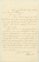 Abraham Lincoln letter to Daniel Ullman, February 1, 1861.