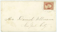 Abraham Lincoln letter to Daniel Ullman, February 1, 1861, envelope.