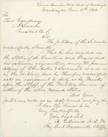 A. Edwards letter to Abraham Lincoln, June 6, 1862, with endorsement by Abraham Lincoln.