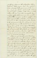 A. Comingo letter to Abraham Lincoln, with endorsement by Abraham Lincoln dated January 26, 1863, leaf 5.