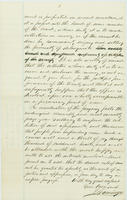 A. Comingo letter to Abraham Lincoln, with endorsement by Abraham Lincoln dated January 26, 1863, leaf 6.