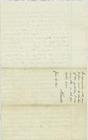 A. Comingo letter to Abraham Lincoln, with endorsement by Abraham Lincoln dated January 26, 1863, leaf 6 verso, blank.