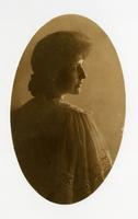 [Oval portrait of woman].