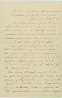 Harriet V. Fitch letter to Abraham Lincoln, February 26, 1864, with endorsement by Abraham Lincoln dated March 4, 1864.