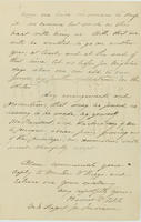 Harriet V. Fitch letter to Abraham Lincoln, February 26, 1864, with endorsement by Abraham Lincoln dated March 4, 1864, page [3].