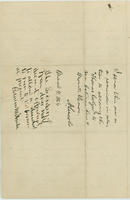 Harriet V. Fitch letter to Abraham Lincoln, February 26, 1864, with endorsement by Abraham Lincoln dated March 4, 1864, page [4].