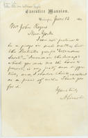 Abraham Lincoln letter to John Rogers, June 13, 1864.