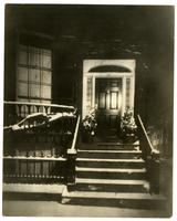 26 Louisburg Square, Boston, at night, where Jenny Lind stayed.