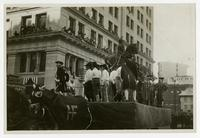 [Historical parade float #31, Destruction of Statue of George III].