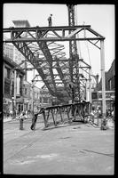 Fulton Street El, Brooklyn, June 20, 1941. Demolition at Rockwell and Fulton Streets.