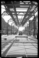 Fulton Street El, Brooklyn, at Rockwell Street, June 20, 1941. View looking [?] east from Hudson Avenue.
