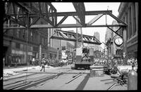 Fulton Street El, Brooklyn, June 20, 1941. Views west from near opposite Abraham and Strauss on Smith Street.