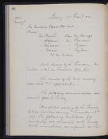 [Minutes of the Executive Committee of the New-York Historical Society, 1907-1910], page 26, minutes of November 19, 1907