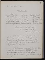[Minutes of the Executive Committee of the New-York Historical Society, 1907-1910], page 27, minutes of November 19, 1907 (continued)