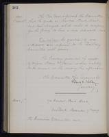 [Minutes of the Executive Committee of the New-York Historical Society, 1907-1910], page 262, minutes of November 16, 1909 (continued)-December 7, 1909