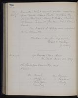 [Minutes of the Executive Committee of the New-York Historical Society, 1907-1910], page 266, minutes of December 7, 1909 (continued)-December 21, 1909