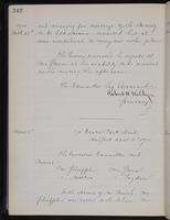 [Minutes of the Executive Committee of the New-York Historical Society, 1907-1910], page 342, minutes of March 15, 1910 (continued)-April 5, 1910