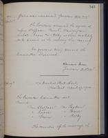 [Minutes of the Executive Committee of the New-York Historical Society, 1907-1910], page 343, minutes of April 5, 1910 (continued)-April 19, 1910