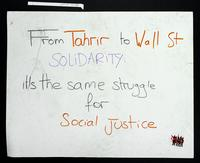 Verso: From Tahrir to Wall St. solidarity: it's the same struggle for social justice