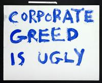 Verso: Corporate greed is ugly