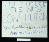 Verso: Help us write the new Constitution. http://constitution.wikia.com/AnonymousConstitution