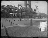 The USS Maine at Cob Dock, Brooklyn Navy Yard, New York City, undated.
