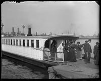 New ferry boat, landing at the Brooklyn Navy Yard, New York City, undated.