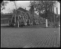 Anchor rack, Brooklyn Navy Yard, New York City, undated.