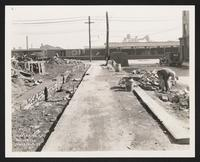Station 146+75, Harrison Place [view towards Varick Avenue and train yards], Brooklyn