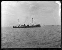 Unidentified ship in New York harbor, Coney Island, Brooklyn, N.Y., undated [c. 1903-1905].