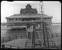 Pavilion on a pier, Coney Island, Brooklyn, N.Y., undated [c. 1903-1905].