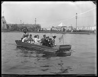 Shoot the Chutes, Coney Island, Brooklyn, N.Y., undated [c. 1900-1903]. Grace Stonebridge aboard.