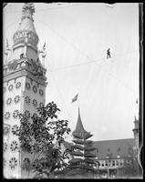 Tightrope walker near the Electric Tower, Luna Park, Coney Island, Brooklyn, N.Y., 1903.