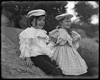Willie and Grace Stonebridge, Oak Point, Port Morris, Bronx, N.Y., undated [c. 1897-1905].