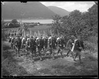 22nd Regiment troops marching with full packs, State Camp (Camp Smith), Peekskill, N.Y., June 13, 1903.