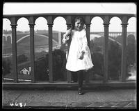 Unidentified little girl on the High Bridge, New York City, N. Y., undated [c. 1900].
