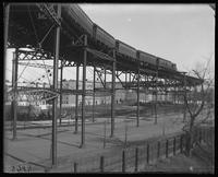 Elevated railroad at W. 110th Street and Eighth Avenue, New York City, N.Y., undated [c. 1897-1918].