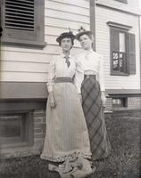 Angie and May Voorhees standing east of the house, Hempstead, N.Y., June 9, 1891.