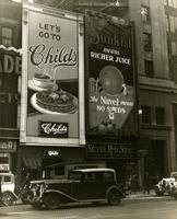 Childs Restaurant and Sunkist billboards, 1485 to 1540 Broadway, New York City.