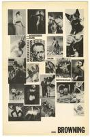 """Advertising films by Browning"" poster."