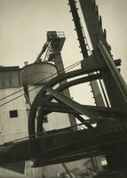 Machinery at concrete block mill, Queens, New York.