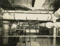 View of mechanical room in Consolidated Lithograph Corporation, Brooklyn, New York.