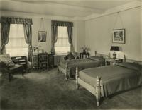 Bedroom in the Hotel Sulgrave, 67th Street and Park Avenue, New York City.