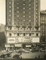 Exterior view of Hotel Claridge, Broadway and 44th Street, New York City.