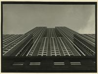 """Modernistic view"" of Empire State Building, perspective from from 34th or 35th Street, New York City."
